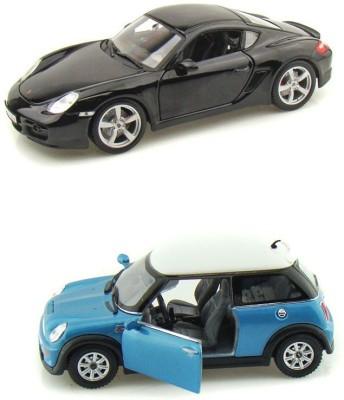 Kinsmart Porsche Cayman and Mini Cooper