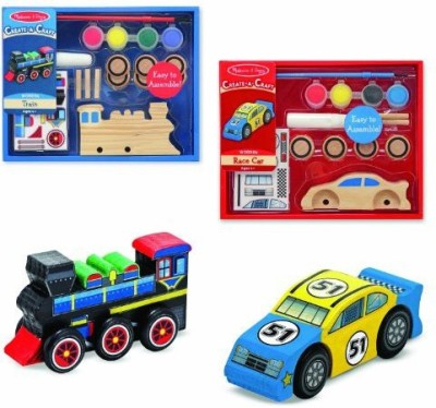 Melissa & Doug Createacraft Car And Train Bundle