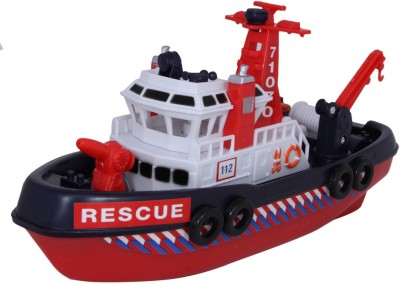 Baby Steps Baby Steps Fiber Die-Cast Metal City Rescue Harbour Boat