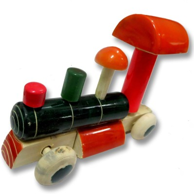 DCS Wooden Train Engine push toy