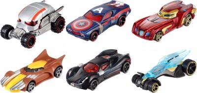 Hot Wheels set of 6 marvel character cars