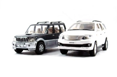 Toyzstation Scorpio & Fortuner Miniature SUV(Black, White)