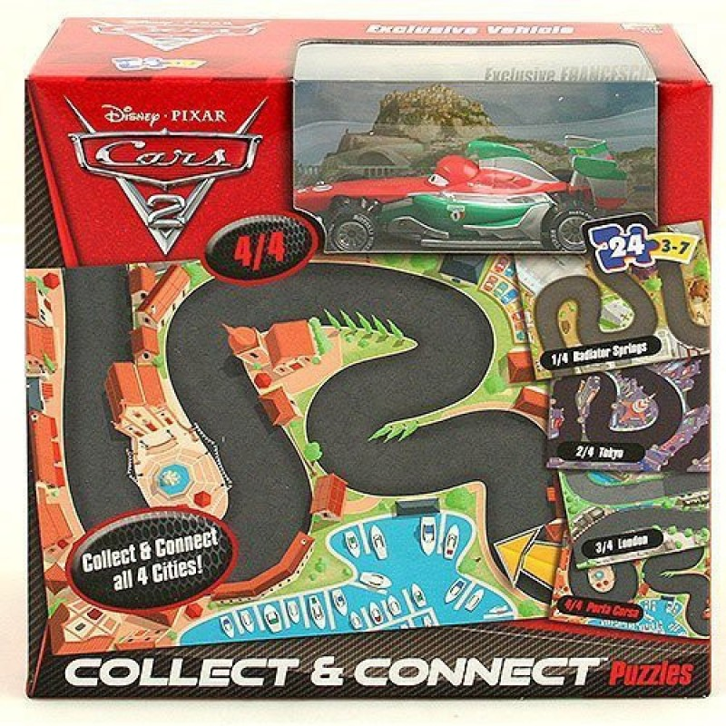 Disney Cars Collect And Connect Puzzle Exclusive Silver Francesco(Multicolor)