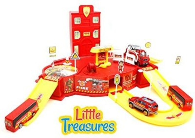Little Treasures State Fire Station Toy - 911 Rush And Rescue