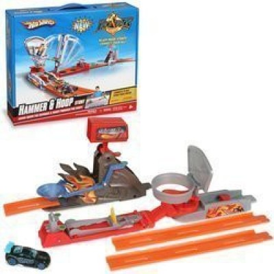 Hot Wheels Trick Tracks Hammer And Hoop Mattel