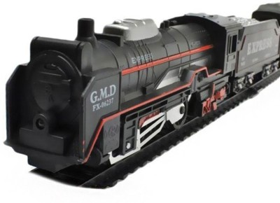 Wishkey Black Plastic LED Super Train Set 13 Pieces