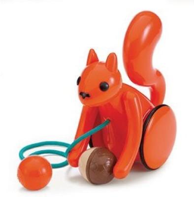 Kid O Products KID10350 Nutty Squirrel Pull Toy 6-.50 X 3-.50 X 7