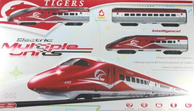 Littlegrin Tiger Metro Bullet Train Set With Tracks 1:108 Scale Toy For Kids