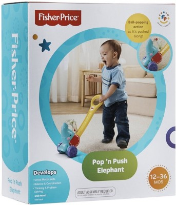 Fisher-Price Pop,n Push Elephant