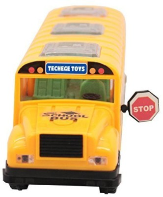 Techege Toys Techege Bright Yellow School Busemits Beautiful 3D
