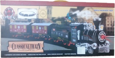 Light Gear Big Size Classical Train Set, Works Off The Track Also