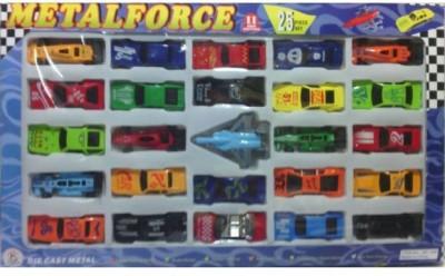 Turban Toys Die Cast Metal Force Car Set - 25 Pieces