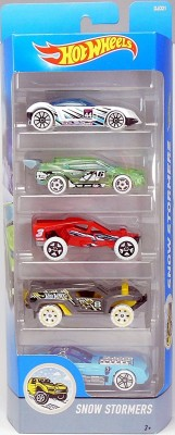 Hot Wheels SNOW STORMERS- 5 CAR PACK