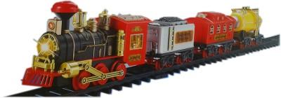 Classic Train Set For Kids Horn Sounds, Radio Control, Headlight, 3 trains , Tracks (12 Pcs)