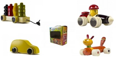 CeeJay Set of 4 Colorful Wooden Baby Toys:Model OW-OW012