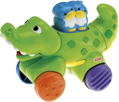 Fisher-Price Press & Go Crocodile Toy(Multicolor)