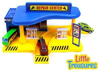 Little Treasures Metropolis Repair Center and Gas Station Play-Set Toy For Kids