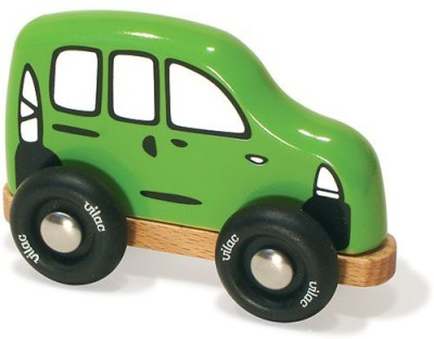 Vilac Push and Pull Baby Wood Toy, Station Wagon, Mini