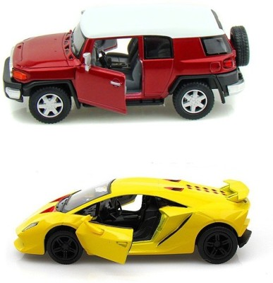 Kinsmart Toyota Fj Cruiser and Lamborghini Sesto Mini Models