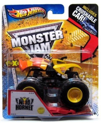 Monster Jam Hot Wheels Nitro Hornet 1St Editions 2013With Crushable