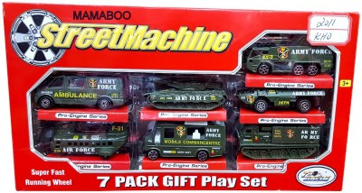 Mamaboo Street Machine 7 Pack Gift Play Set Army Series