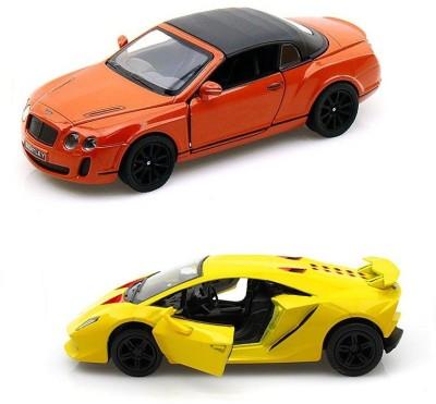 Kinsmart Bentley Continental and Lamborghini Sesto