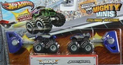 Hot Wheels Monster Jam Mighty Minis Shocker And Bounty Hunter