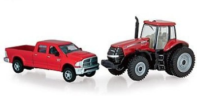 Tomy Ertl Dodge Pickup With 180 Magnum Tractor164 Scale