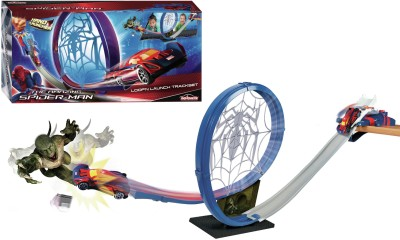 Majorette Spiderman Loop ,N Launch Track Set