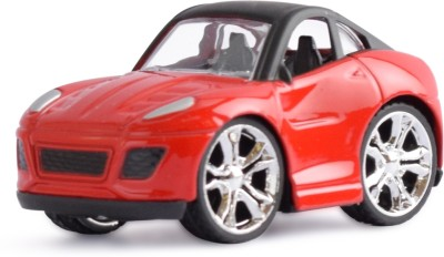 Ochre Red Die Cast Pull Back Alloy Body car
