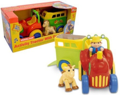 Small World Toys Activity (Activity Tractor W/ Trailing Stable) 8