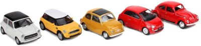 Welly NEX Model Die Cast 1:43 Scale Cars - Pack of 5