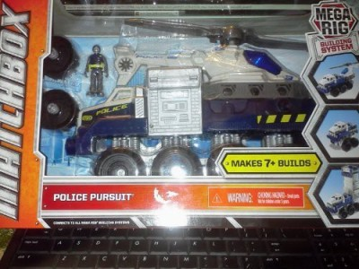 Mattel Matchbox Mega Rig Building System Police Pursuit