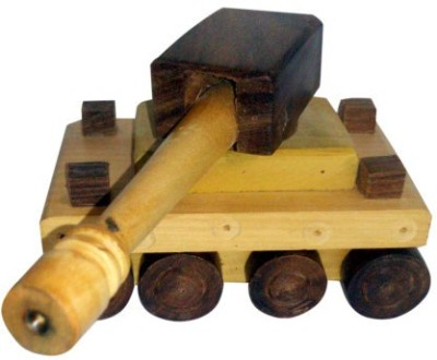 Onlineshoppee Wooden Toy Tank(Brown)