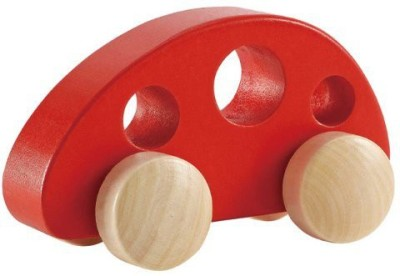 Hape Mini Van - Solid Maple in Red