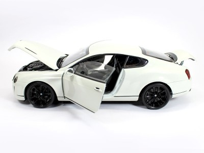 Welly Bentley Continental Supersports White 1:18 By Welly Diecast Scale Model Car