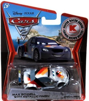 MISSING Disney Pixar Cars 2 Max Schnell With Metallic Finish