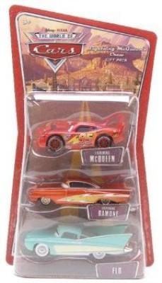 Mattel Cars Racing 3Car Pack Lightning Mcqueen/Flo/Lightning Ramone