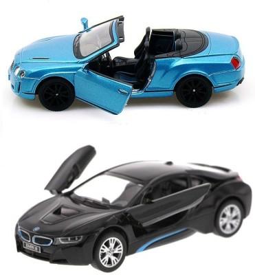 i-gadgets Kinsmart Bentley Continental 2010 and BMW i8 blk