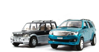Toyzstation Scorpio & Fortuner Miniature SUV(Black, Blue)