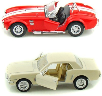 i-gadgets Kinsmart Shelby Cobra Rd and 1964 Ford Mustang Wht