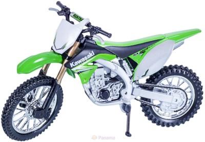 BBURAGO 1:18 Kawasaki KX 450F-Green toy bike model