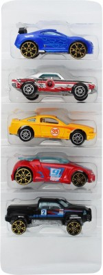 Just Toyz Wonder wheels Super Fast Running Wheel 5 Cars truck tanker Gift set - Assorted Colours & Stylish Models