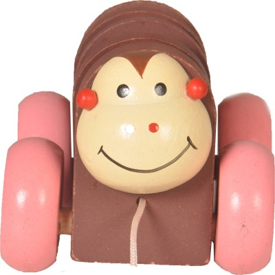 wishkey Wooden pull along toy vehical