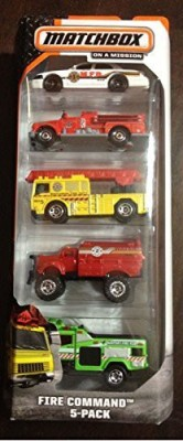 Matchbox 2014 Fire Command 5Pack
