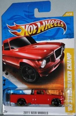 Hot Wheels 2011 ,63 Studebaker Champ Goodyear Tires 164 29/244 New