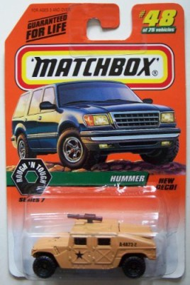 Matchbox 1998 48 Hummer Military Edition