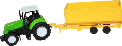 NEWRAY 1/32 Country Life Farm Tractor with Trailer