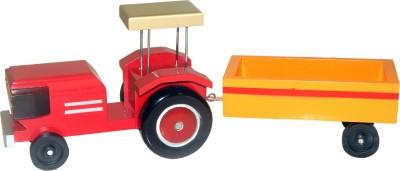 ZoneMart ZoneMart Wooden Tractor-Painted