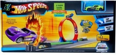 Mayatra,s 360 Hot Speed Powerful Spin Loop Way Racing Inertia Power Car With 3 Vehicles